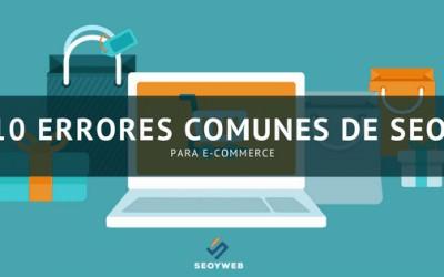10 errores comunes de SEO para e-commerce
